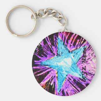 Porte-clés Porte - clé d'étoile bleue