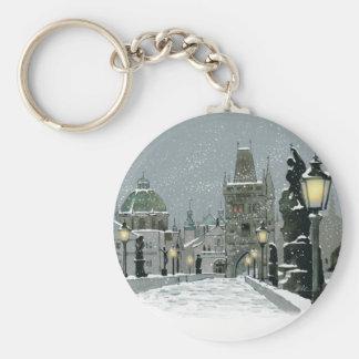 Porte-clés Porte - clé d'hiver de pont de Charles