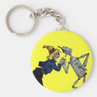Porte-clés Porte - clé d'homme d'épouvantail et de bidon