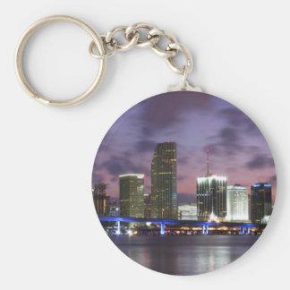 Porte-clés Porte - clé d'horizon de soirée de Miami