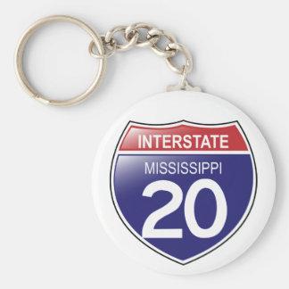 Porte-clés Porte - clé d'I-20 Mississippi