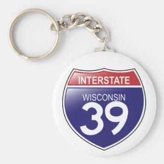 Porte-clés Porte - clé d'I-39 le Wisconsin