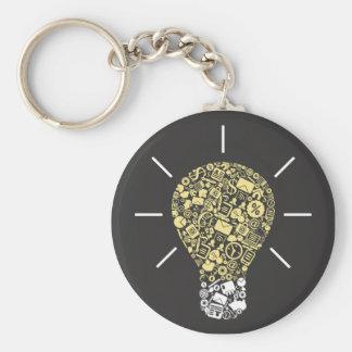 Porte-clés Porte - clé d'idée d'ampoule