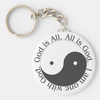Porte-clés Porte - clé - Dieu est tout le Yin-Yang