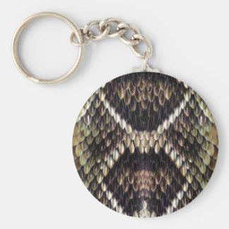 Porte-clés Porte - clé d'impression de peau de serpent
