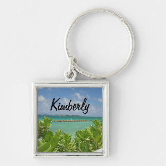 Porte-clés Porte - clé d'océan des Bahamas avec le nom
