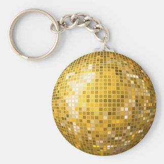 Porte-clés Porte - clé d'or de boule de disco