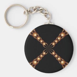 Porte-clés Porte - clé d'or du X de Newton
