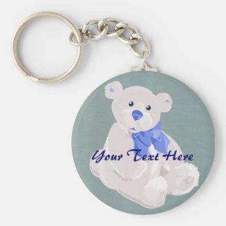 Porte-clés Porte - clé d'ours bleu et blanc