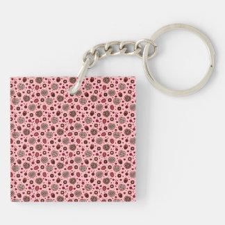 Porte-clés Porte - clé doux rose de motif de festins de