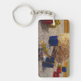 Porte-clés Porte - clé drôle de hérisson d'emballage cadeau
