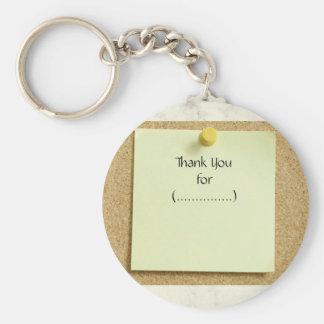 Porte-clés Porte - clé drôle de Merci de note de post-it