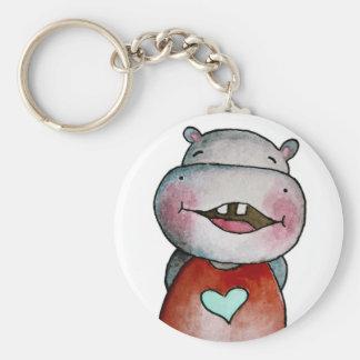 Porte-clés Porte - clé drôle d'hippopotame