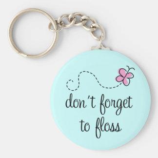 Porte-clés Porte - clé drôle d'hygiéniste dentaire de soie
