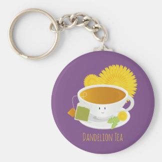 Porte-clés Porte - clé du caractère | de tasse de thé de