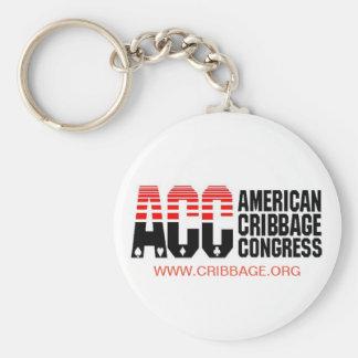 Porte-clés Porte - clé du congrès de Cribbage d'Américain