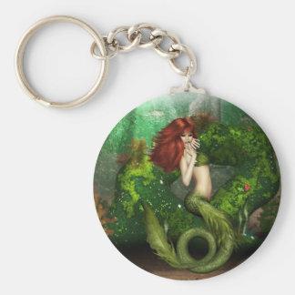 Porte-clés Porte - clé d'une chevelure rouge de sirène