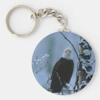 Porte-clés Porte - clé/Eagle chauve dans la neige d'hiver