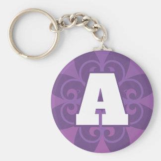 Porte-clés Porte - clé élégant de lettre initiale de