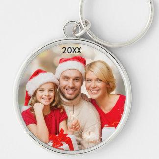 Porte-clés Porte - clé élégant de Noël de photo de famille