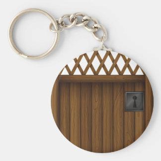 Porte-clés Porte - clé en bois de porte