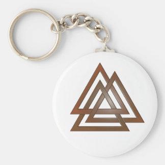 Porte-clés Porte - clé en bronze de Valknut