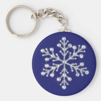 Porte-clés Porte - clé en cristal de flocon de neige