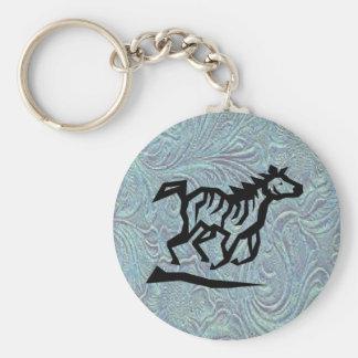 Porte-clés Porte - clé en cuir de cheval de conception