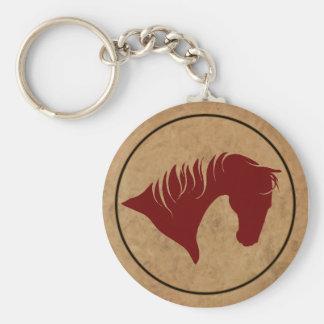 Porte-clés PORTE - CLÉ en cuir marqué de tête de cheval