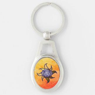 Porte-clés Porte - clé en métal de remous de yoga de