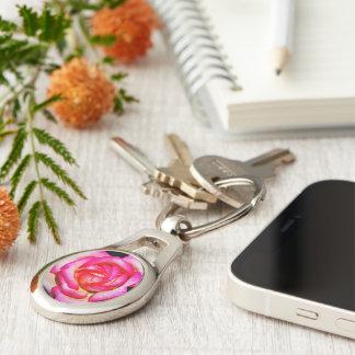Porte-clés Porte - clé en métal de rose de roses indien