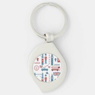 Porte-clés Porte - clé en métal de souvenir d'amour d'icônes