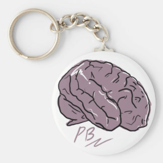 Porte-clés Porte - clé en plastique de logo de cerveau