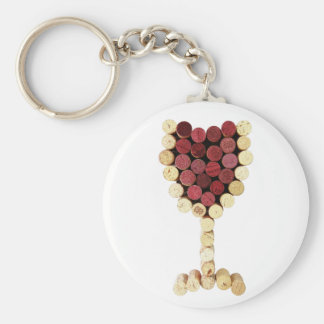 Porte-clés Porte - clé en verre de vin de liège