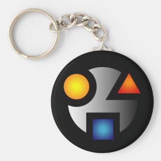 Porte-clés Porte - clé énigmatique de logo de MI