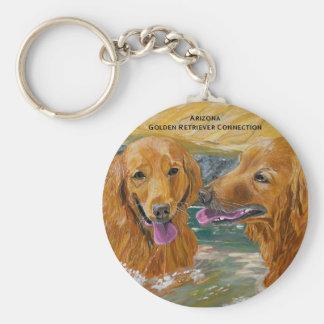 Porte-clés Porte - clé espiègle de chiens d'arrêt d'or