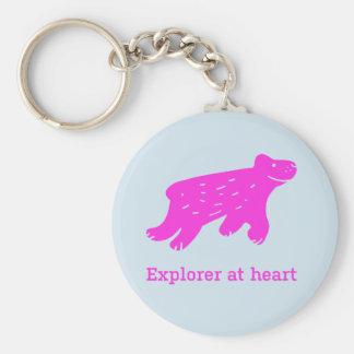 """Porte-clés Porte - clé """"explorateur au coeur """""""