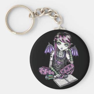 Porte-clés Porte - clé féerique d'art de fille d'école d'Emo
