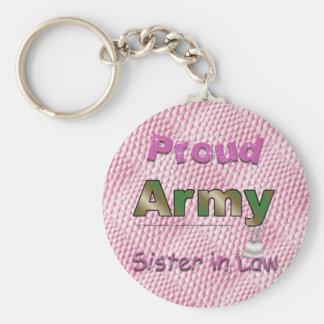 Porte-clés Porte - clé fier de belle-soeur d'armée