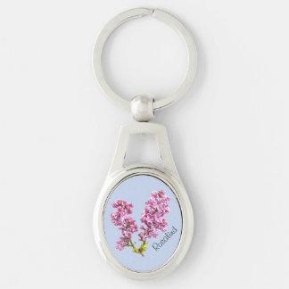 Porte-clés Porte - clé - fleurs lilas avec le nom