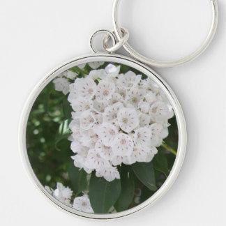 Porte-clés Porte - clé floral blanc de bouton de laurier de