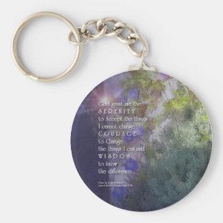Porte-clés Porte - clé floral de prière de sérénité