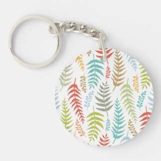 Porte-clés Porte - clé floral écervelé coloré d'arrière -
