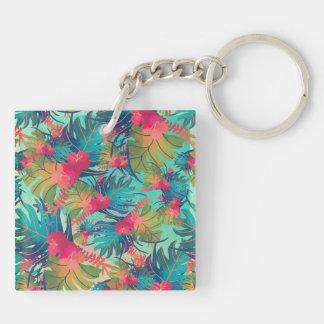 Porte-clés Porte - clé floral tropical d'aquarelle