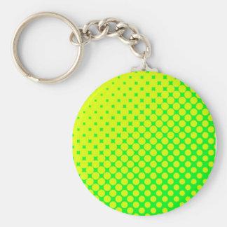 Porte-clés Porte - clé fluorescent d'années '80 rétro vert et