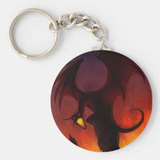 Porte-clés Porte - clé foncé de dragon