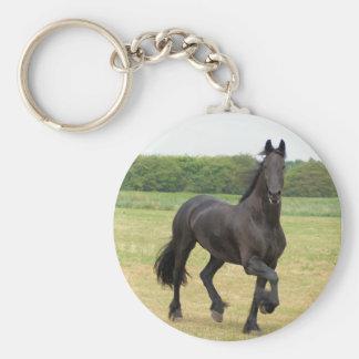 Porte-clés Porte - clé frison de cheval
