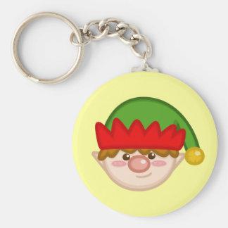 Porte-clés Porte - clé gai d'Elf de Père Noël