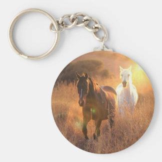 Porte-clés Porte - clé galopant de chevaux sauvages