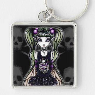 Porte-clés Porte - clé gothique de fée de mouche de crâne de